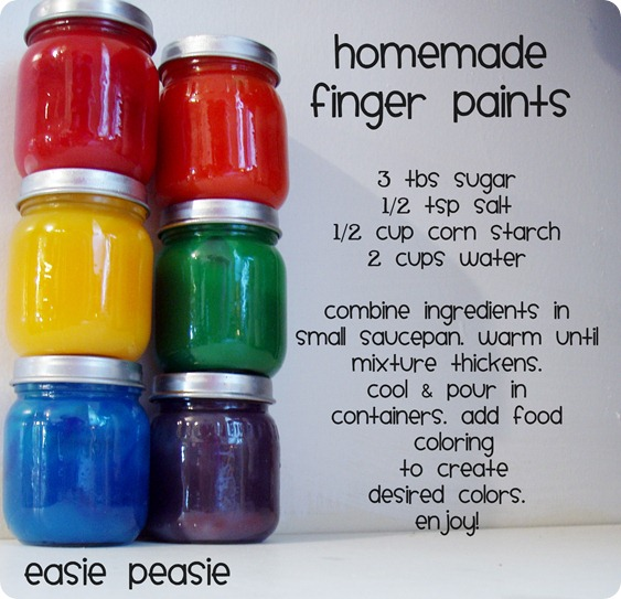 Make Your Own: Homemade Finger Paints