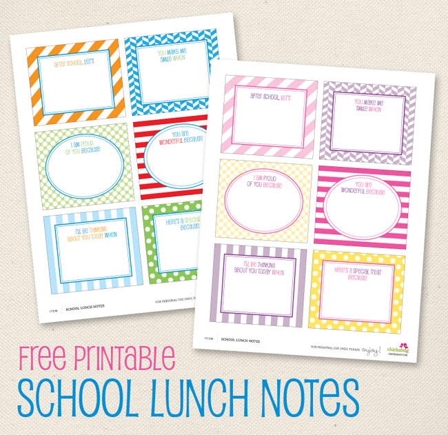 Free Printables: Back To School Fun!